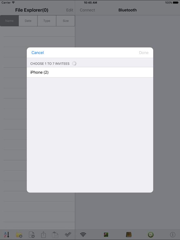 Bluetooth U(Share files and Photo Library) screenshot