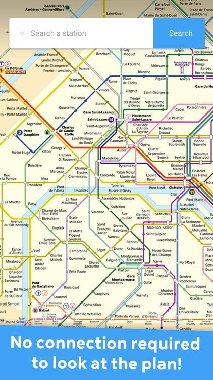 Metro Paris   offline maps by Samuel Ferrier
