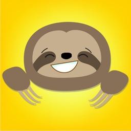 Cute Sloth Face Emojis Sticker Pack