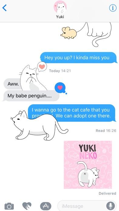 Yuki Neko - Animated Kitty Cat Fun Pet Stickers