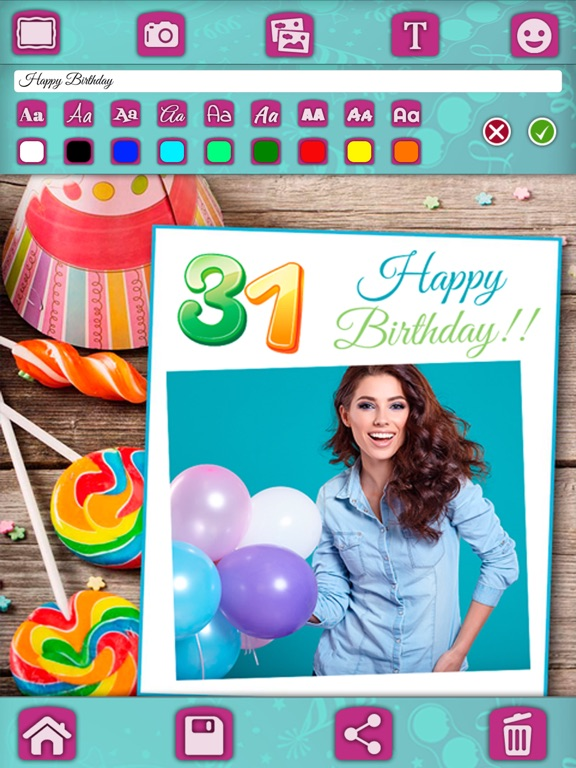 Screenshot 4 For Birthday Greeting Cards Photo Editor Pro