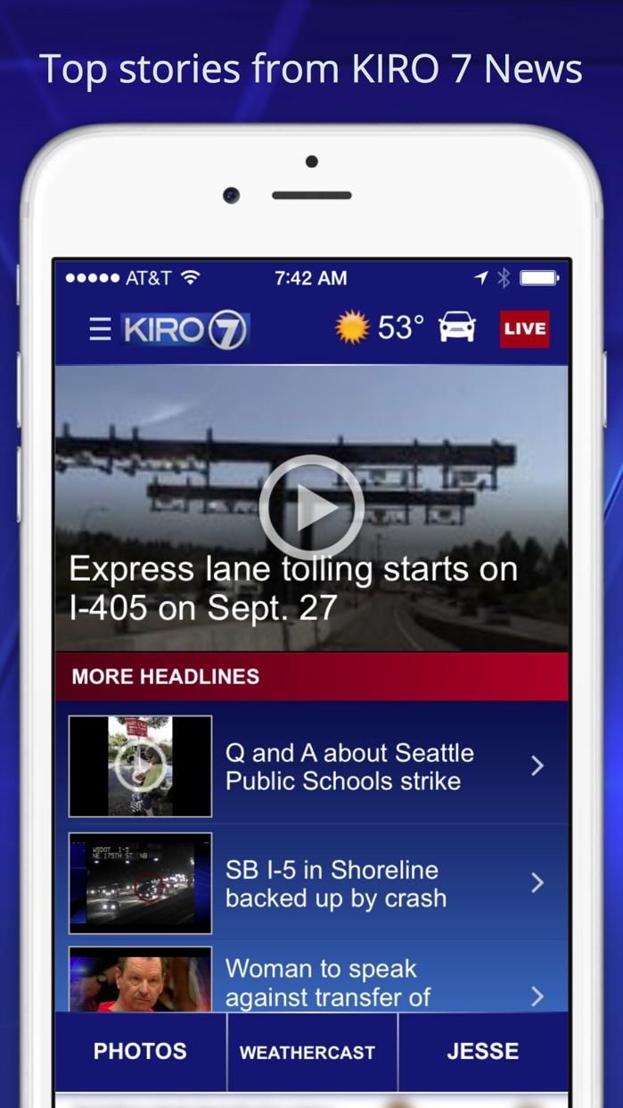 KIRO 7- Seattle Area News Screenshot