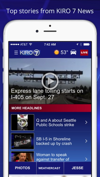 KIRO 7 -Seattle area news, weather, traffic&sports