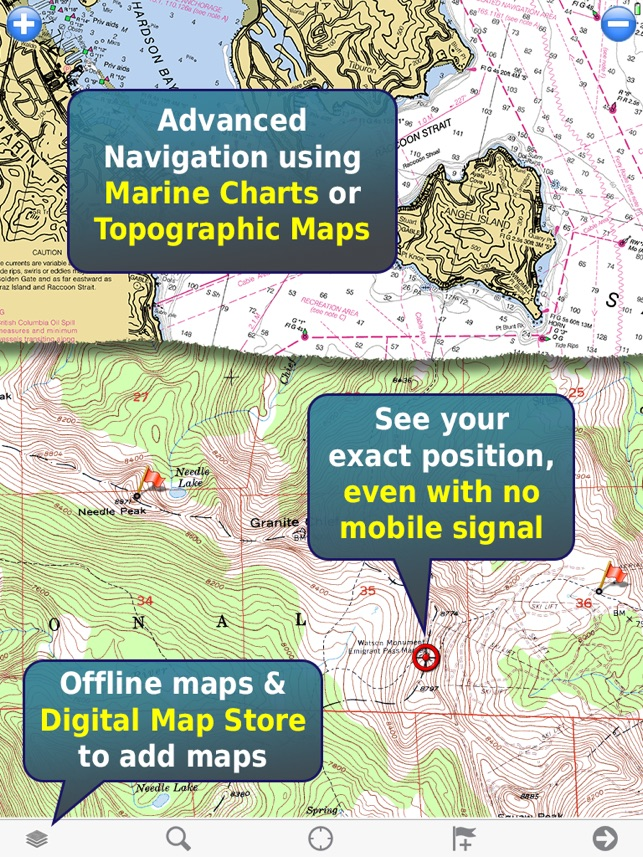 MemoryMap Topo Maps And Marine Navigation On The App Store - Usgs map store
