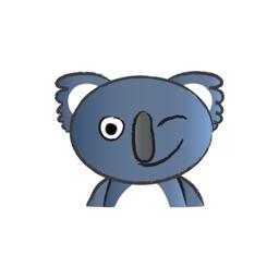 Round Round Koala Bear stickers by Lim Boon Pee