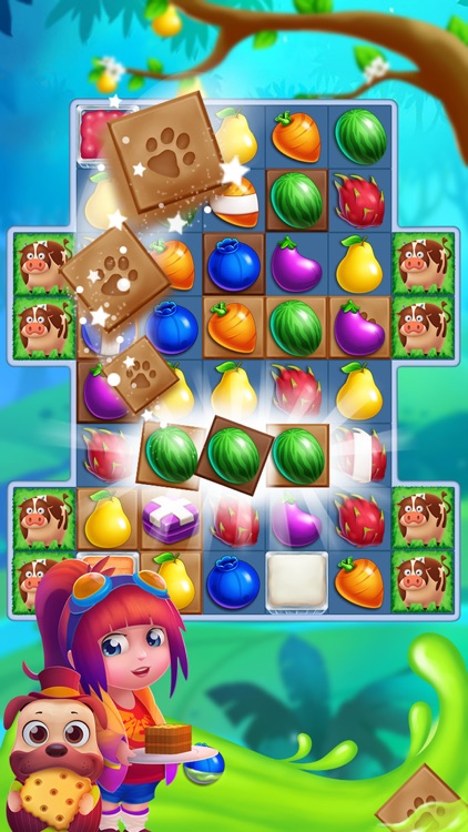 Monster Fruit Pop Jam: match 3 games matching free screenshot-3