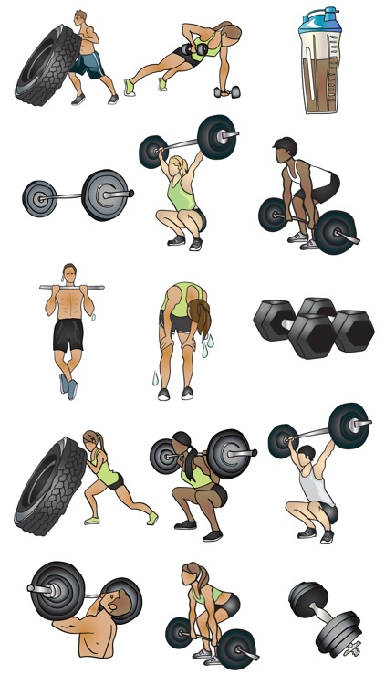 Crossfit & Weightlifting Stickers and Emojis