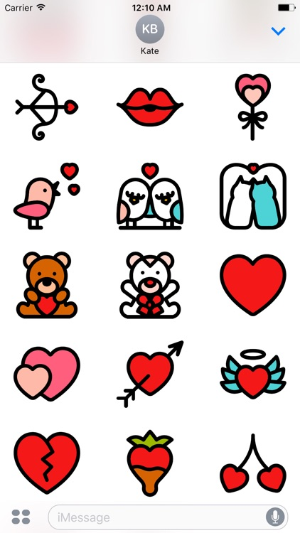 REd LOVe - Couple Stickers