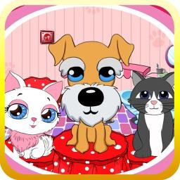 Dora beauty pets salon - make up & dress up game