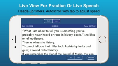 Public Speaking Teleprompter Screenshots