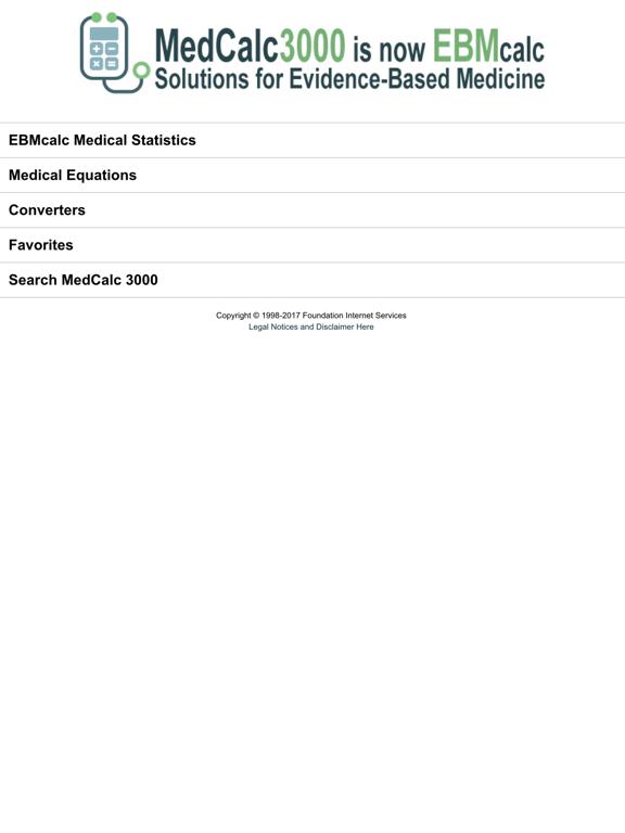 EBMcalc Statistics by Foundation Internet Services, LLC (iOS
