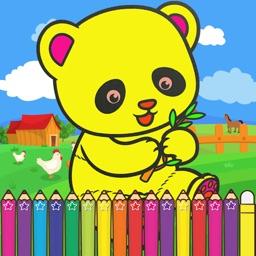 Panda Coloring Games for kids