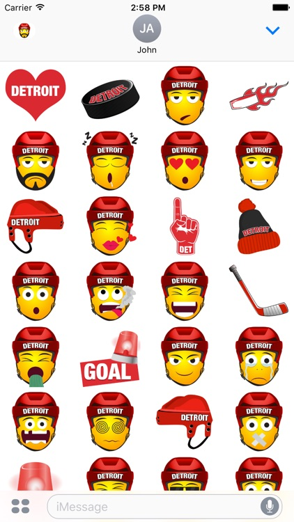 Detroit Hockey Stickers & Emojis screenshot-3