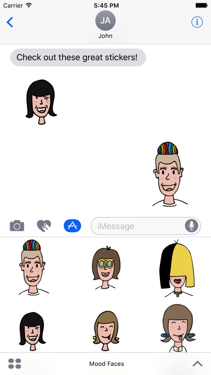 Mood Faces Stickers for iMessage screenshot-1