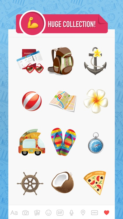 Travelmoji - emoji keyboard sticker for travelers