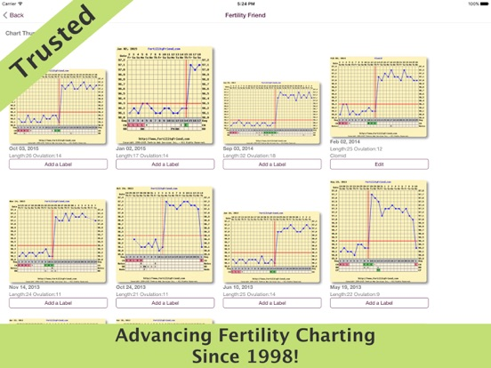 Fertility Friend FF App iPad