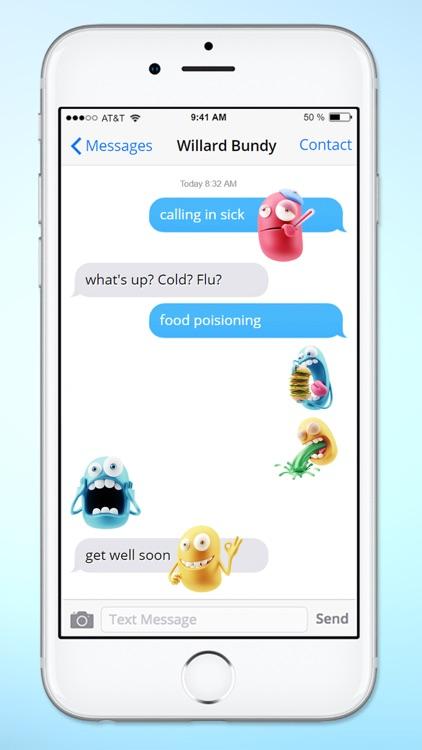 Silly 3D Monster Emojis Sticker Pack