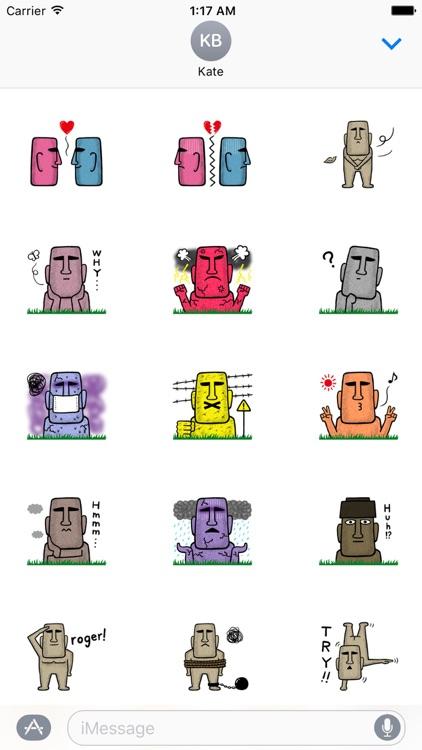 Funny MOAI Statue Stickers
