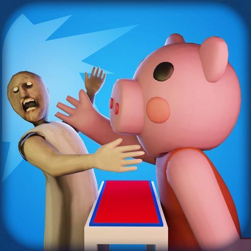 Neighbor Piggy Slap Granny
