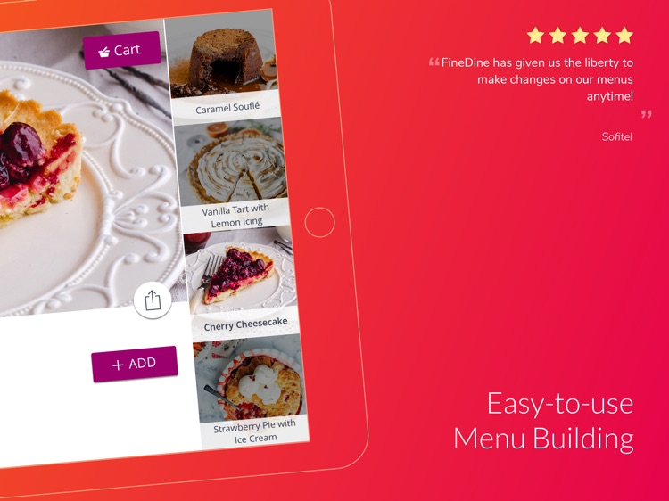 FineDine Menu App