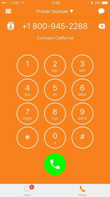 Phoner Texting Phone Number screenshot-8