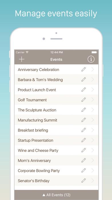 Guest List Organizer Pro Screenshots