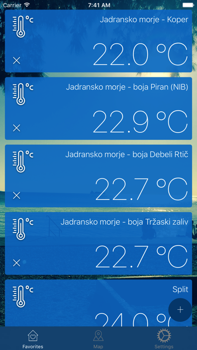 Water Temperatures Screenshot