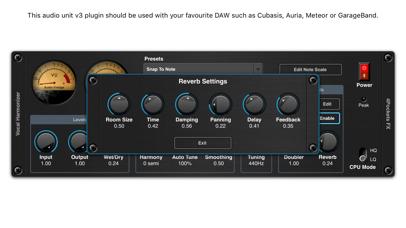 Vocal Harmonizer AUv3 Plugin screenshot 3