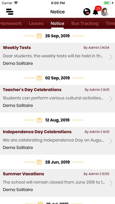 Screenshot of IS Dev Samaj Sen. Sec. School App