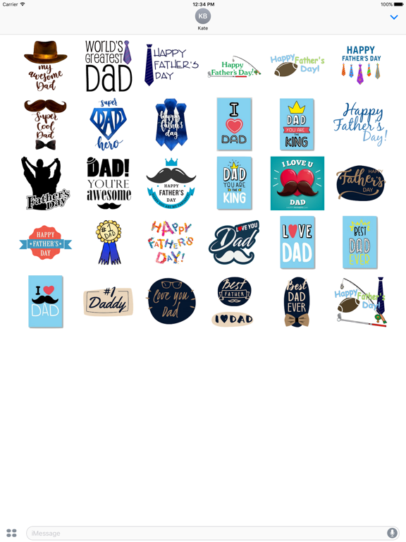 Happy Fathers Day Icon Sticker screenshot #2