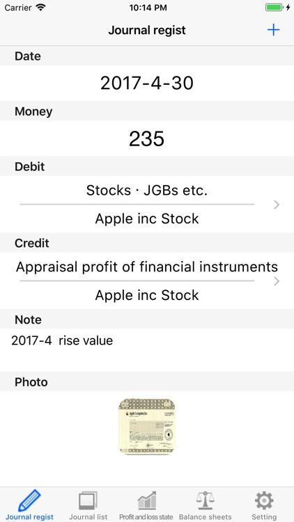 Profit and loss statement screenshot-3