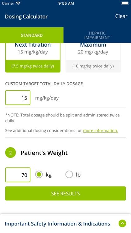EPIDIOLEX® Dosing Calculator
