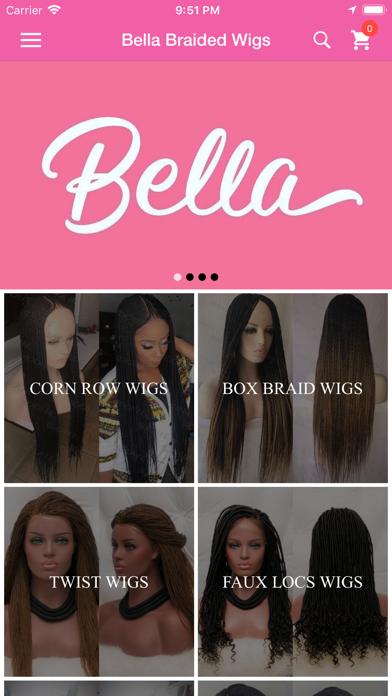Bella Braided Wigs screenshot one