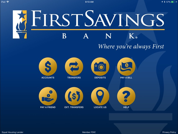 First Savings Bank,IN for iPad