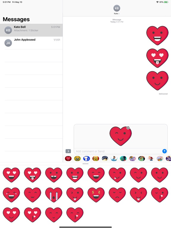 Love Heart Emoji Stickers screenshot 5