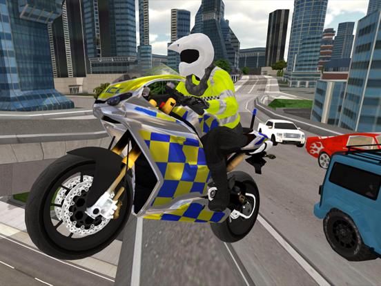 Police Motorbike Simulator 3Dのおすすめ画像1