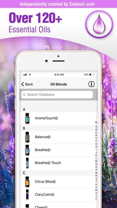 Essential Oils Guide: doTERRA Screenshots