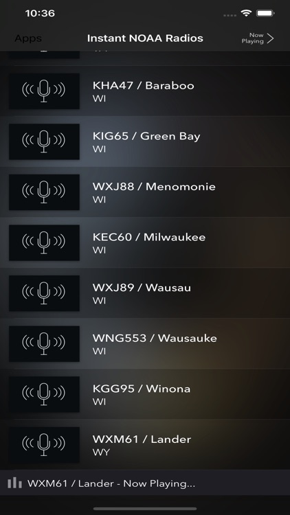 Instant NOAA Radios Lite screenshot-6