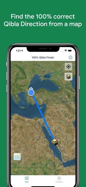 100% Qibla Finder on the App Store on