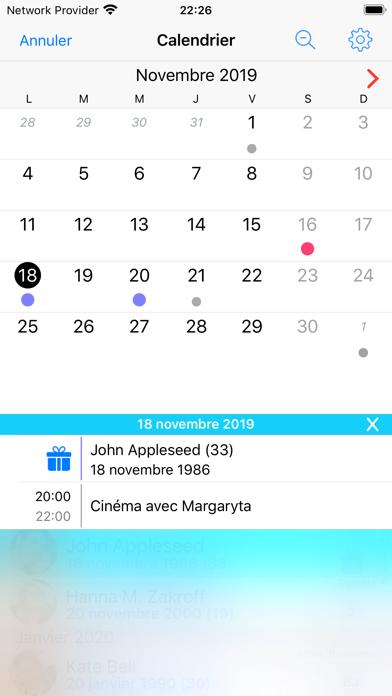 Screenshot #2 pour BirthdaysPro