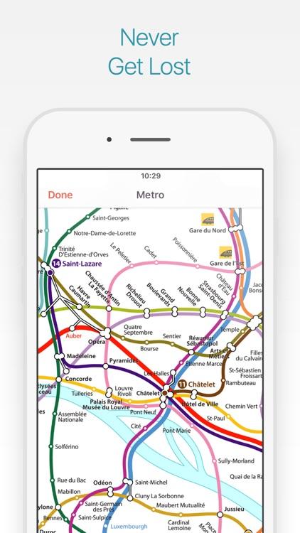 Paris Travel Guide and Map screenshot-3