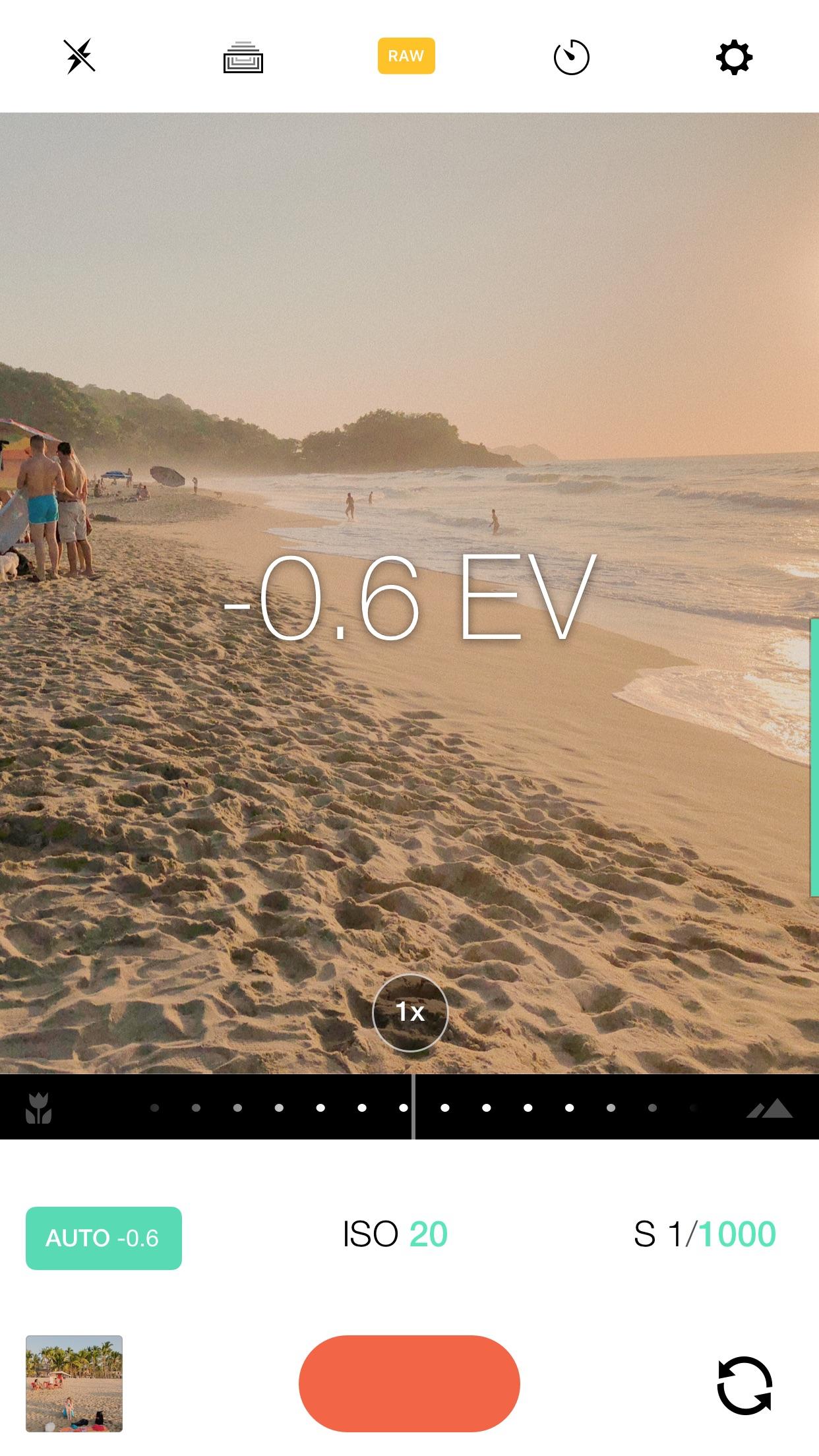 Screenshot do app Manual – RAW Camera