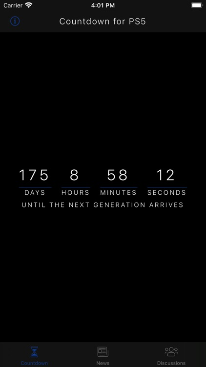 Countdown for PS5