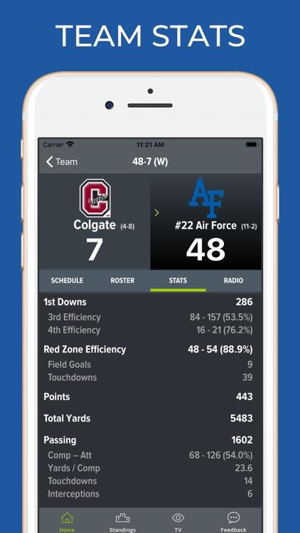 Air Force Football Schedules screenshot-4