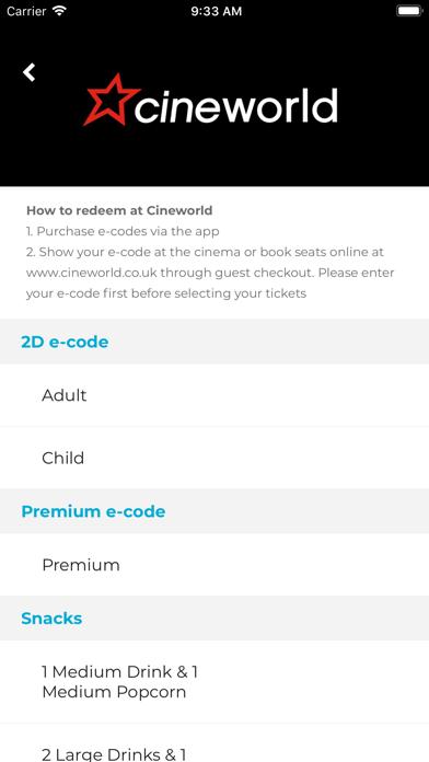 Cinema - Perks at Work screenshot two