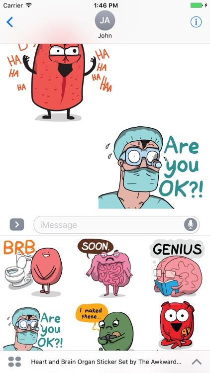 Heart and Brain Sticker Pack screenshot-3