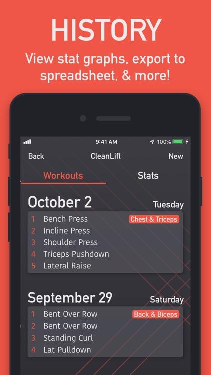 CleanLift - Weight Training screenshot-4