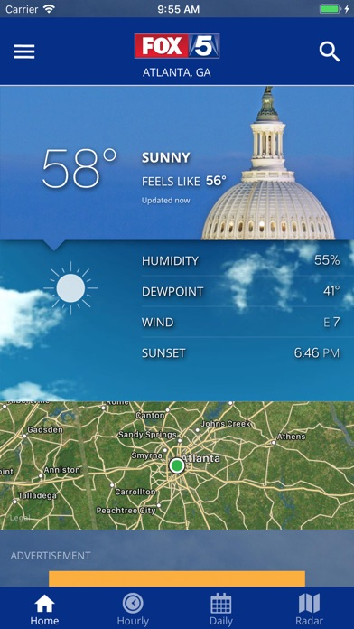 Screenshot for DC Weather Radar and Alerts in United States App Store