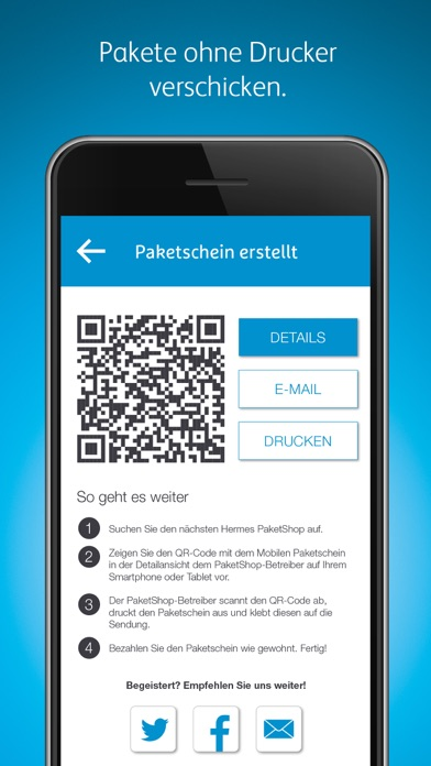 Screenshot for Hermes Paketversand in Germany App Store