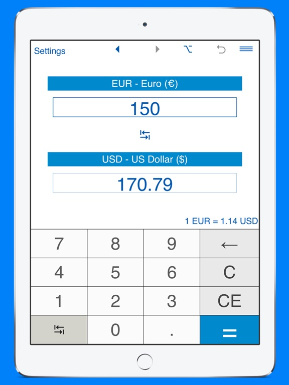 USD And EUR Converter By Intemodino Group Sro IOS United States